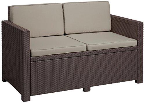 Allibert Lounge Sofa Victoria 2-Sitzer, braun/taupe