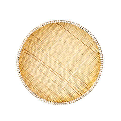 Früchte Fußkorb, Taschenleerer Multifunktionale Schmuck Organizer Tabletts Handgemachte Schmuckablage Obst- und Gemüsebehälter Rattan Körbe Dekoschalen Modern (Size : Medium)