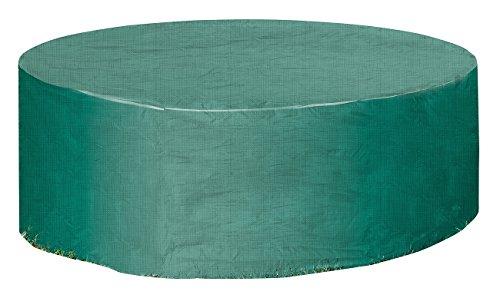 Royal Gardineer Sonneninsel Abdeckung: Gewebe-Abdeckplane für Gartentisch & Sonneninsel, 250 x 90 cm (Ø x H) (Sonneninsel Abdeckung wasserdicht)