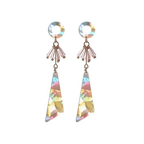 UINGKID Damen Ohrringe Mode Ohrstecker Vintage Persönlichkeit kreatives Metallacetat Blatt geometrische unregelmäßige
