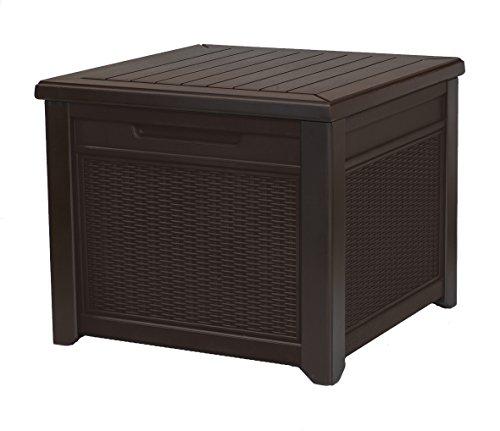 Keter Allwetter-Garten-Tisch oder Bank, 55 l Rattan-Stil 1 Pack braun