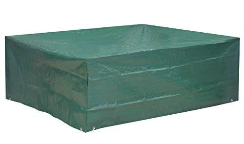 Kronenburg Schutzhülle Sitzgruppe Abdeckhaube, Grün, 70 x 200 x 160 cm – Abdeckung für Gartenmöbel – weitere Schutzhüllen wählbar